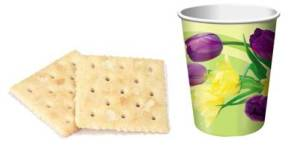 communion - saltines and grape juice